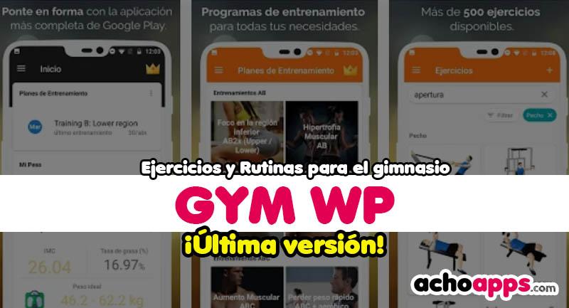 Gym WP Ejercicios Y Rutinas Para El Gimnasio