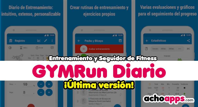 GymRun Diario Entrenamiento Y Seguidor De Fitness