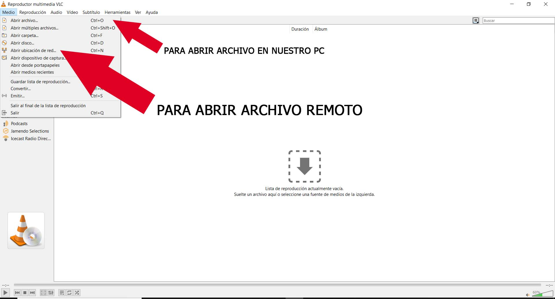 Abrir Lista M3u En VLC