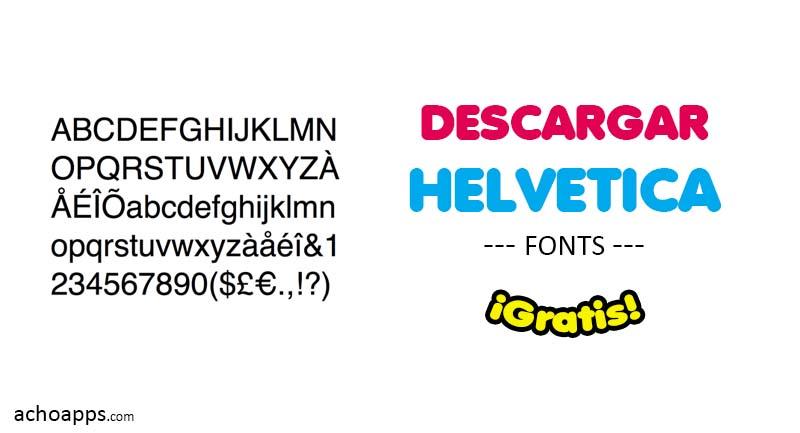 Descargar Helvetica Gratis