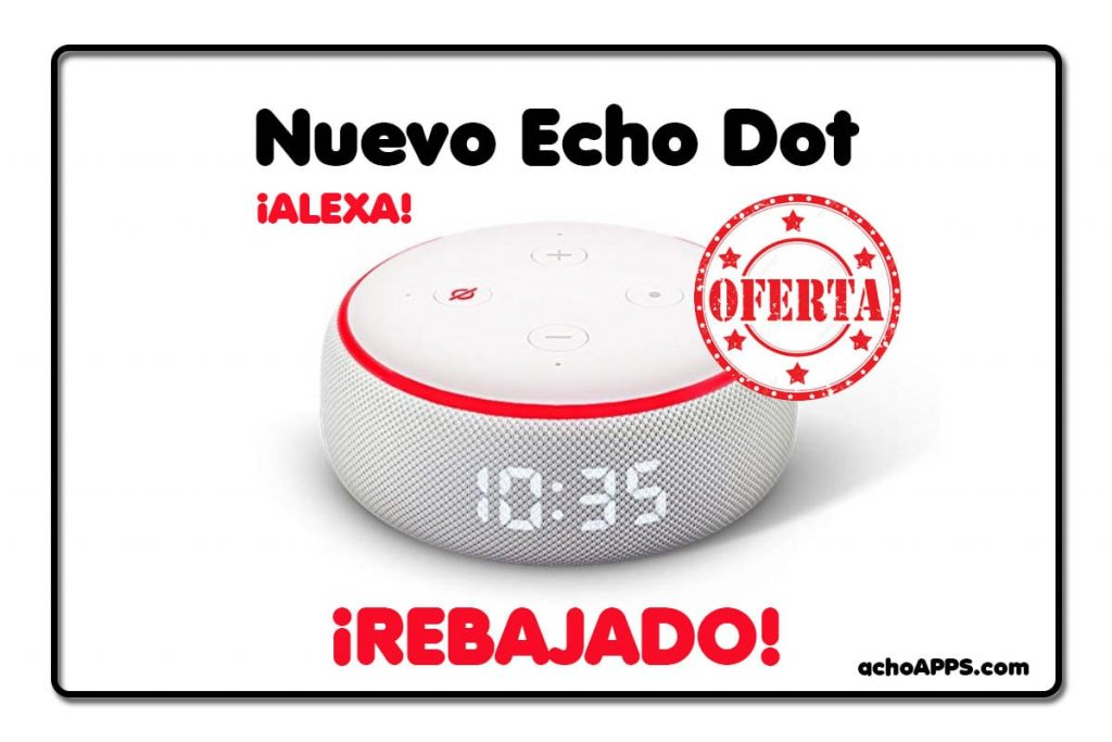 Amazon Alexa Echo Dot Con Reloj
