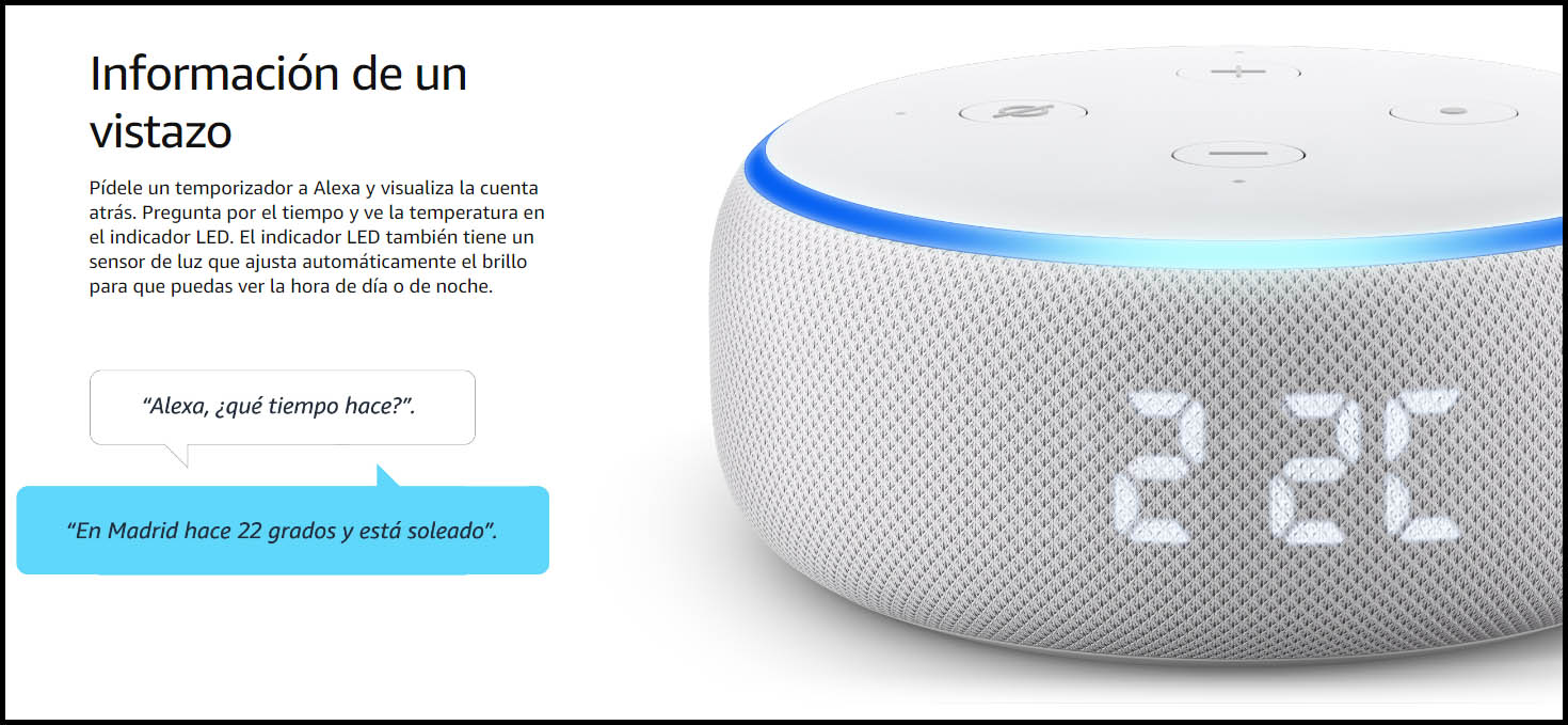 Nuevo Echo Dot Con Reloj