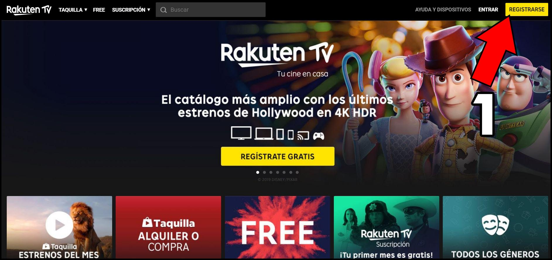 Peliculas Gratis Rakuten TV