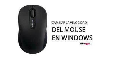Velocidad Ratón En Windows